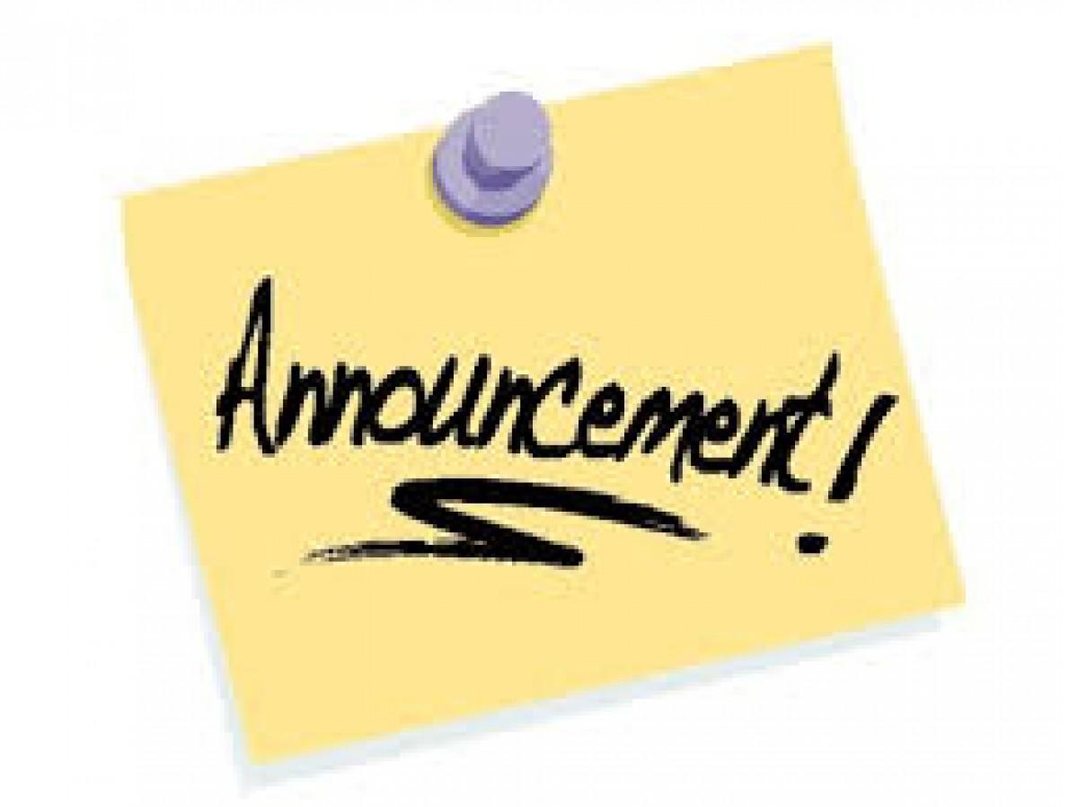 Thông báo về ngày đăng ký cuối cùng